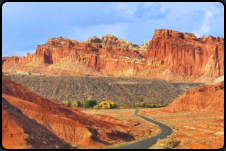 Der Capitol Reef Scenic Drive