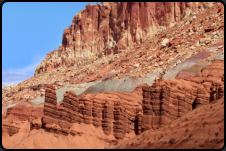 """The Fluted Wall"" im Capitol Reef Nationalpark"